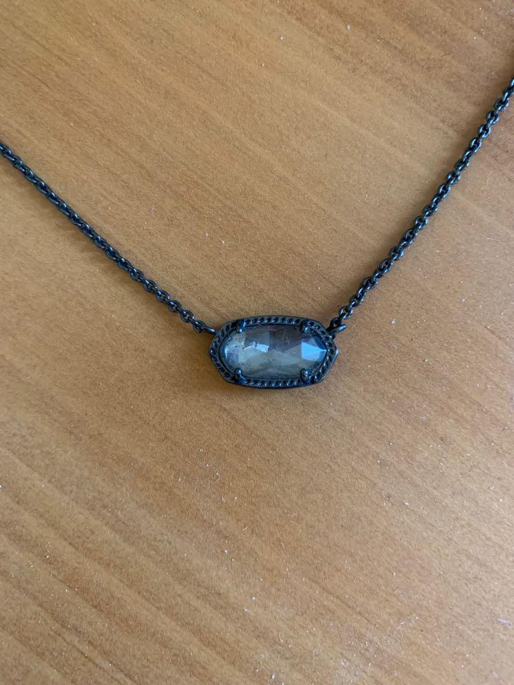 Kendra Scott Gunmetal Necklace
