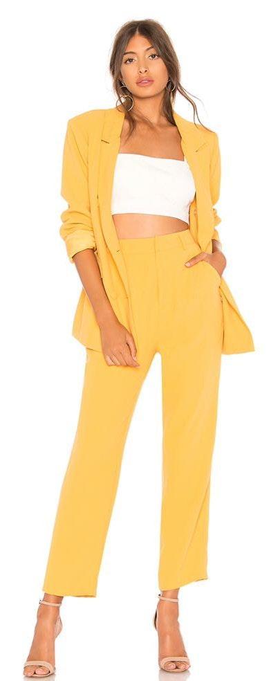 Lovers + Friends Yellow Dress Pants
