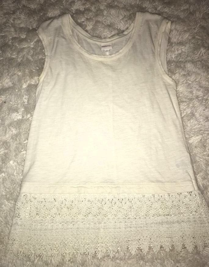 Merona White Lace Shirt