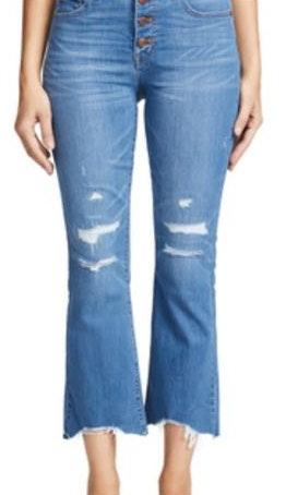 Madewell Cali Boot Distressed Cut Hem Jeans