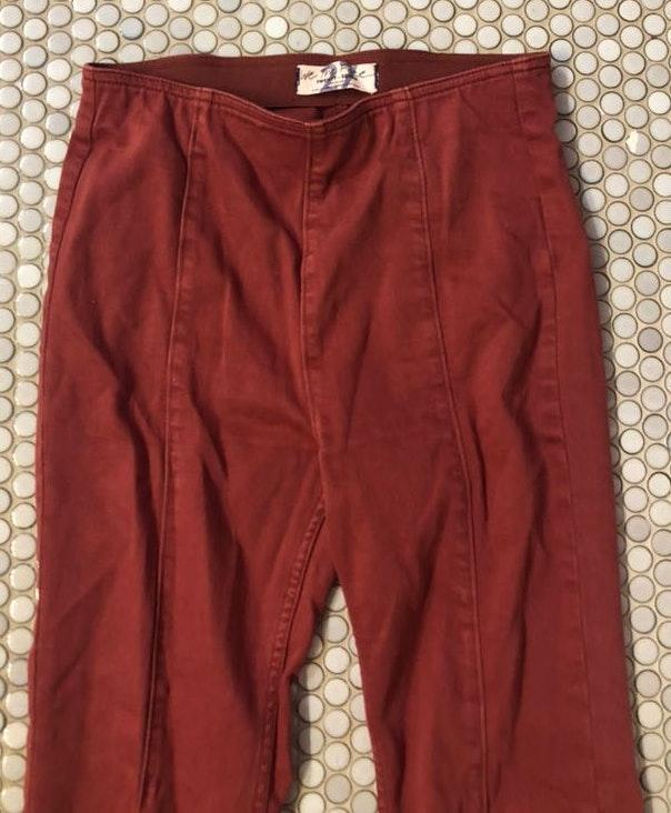 Free People Red Flare Jeans
