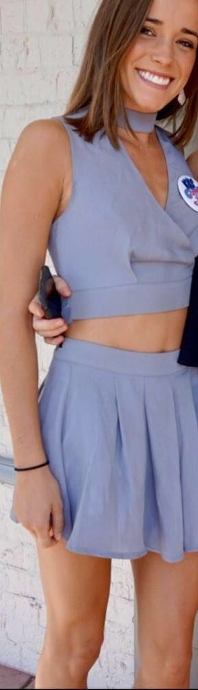 L'ATISTE Gray Two Piece