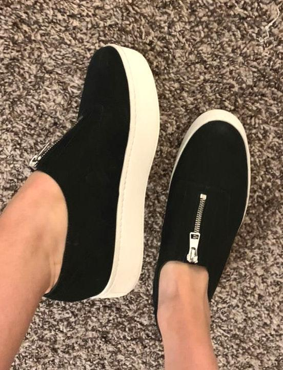 Vince Camuto Black Platform Sneakers