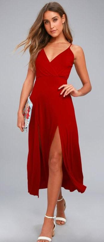Lulus Time To Tango Red Dres