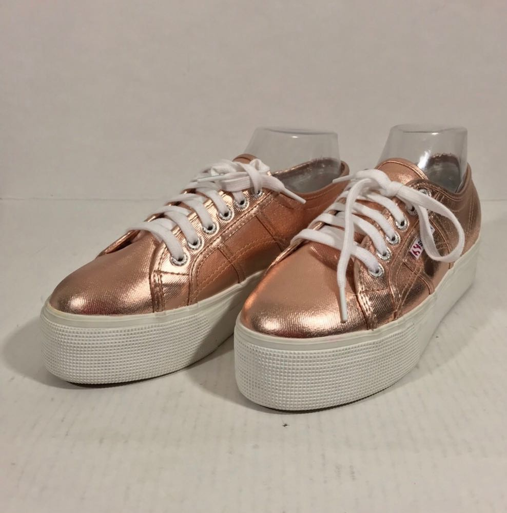 Superga rose gold  platforms !