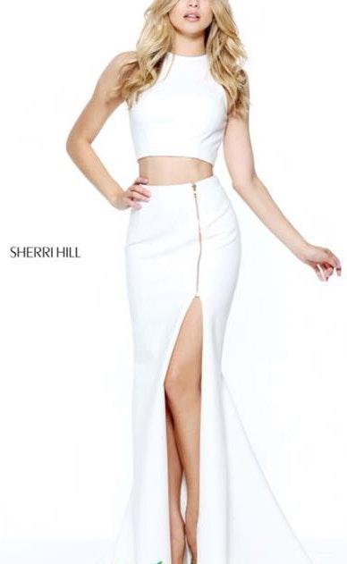 Sherri Hill Ivory Prom Dress