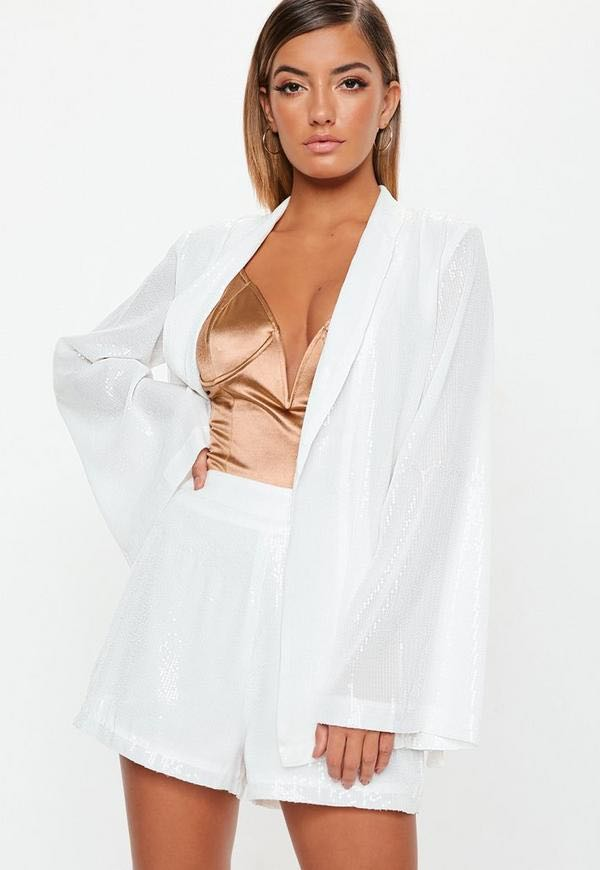 Missguided Sequin Blazer And Shorts