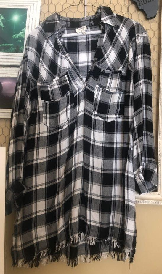 Umgee Flannel Dress