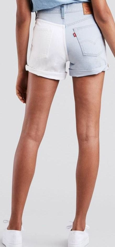 Levi's NWT Levis 501 High Rise Two Tone Cuffed Mom Shorts