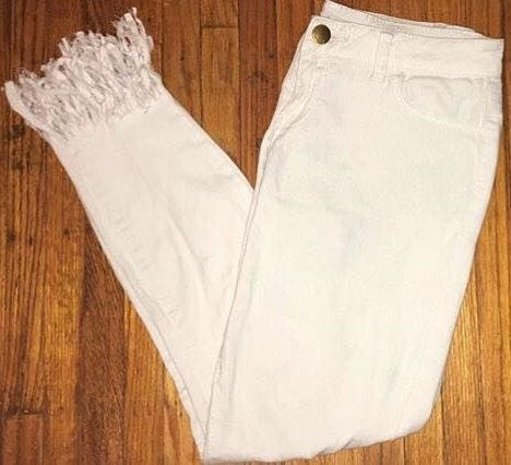 Charlotte Russe White Mid-rise Jeans