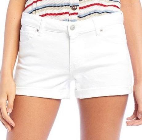 Celebrity Pink Cute High Waisted White Jean Shorts