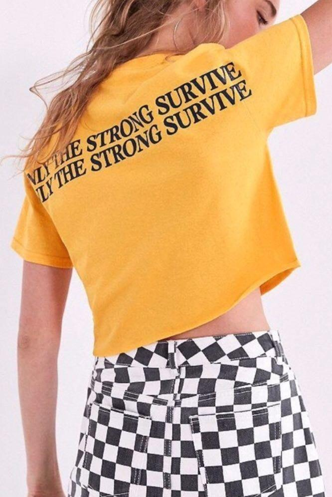 "Urban Outfitters ""Only The Strong Survive"" Croptop"