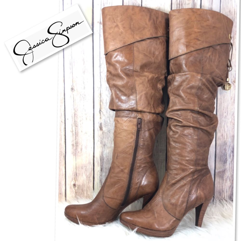 Jessica Simpson Brown Slouchy Knee Hight Boots