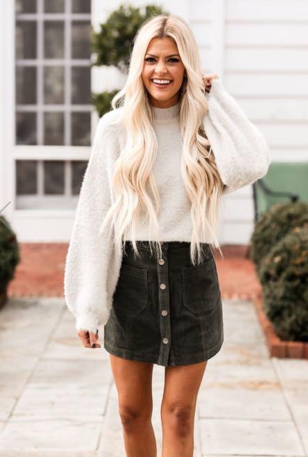 Vestique Silver Fuzzy Sweater