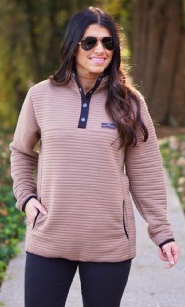 Simply Southern NWT  Mocha Ribbed Fleece..Size XL