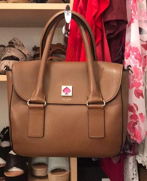 discover latest trends top design uk store Kate Spade Brown Leather Crossbody Bag