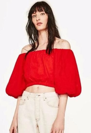 5be832e4be7 We're the buy/sell app for cute clothes. Say to being bored of your  clothes. Home Zara Size Small Red Orange Crop Top