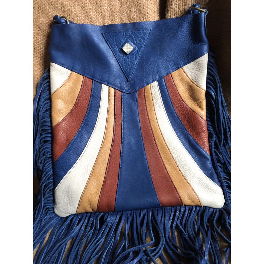Native Rainbow Kaleidoscope Fringe Shoulder Bag
