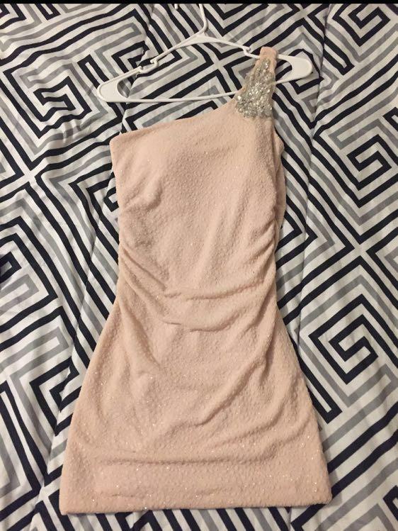 Emerald Sundae Beige Ruched Mini Dress