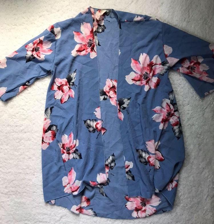 Pink Lily Floral Kimono