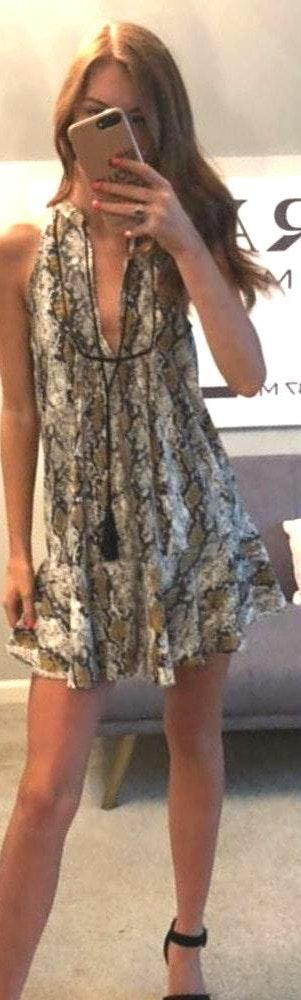 Pants Store Snakeskin Print Dress