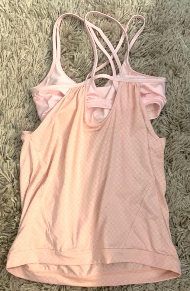 Athleta light pink workout tank