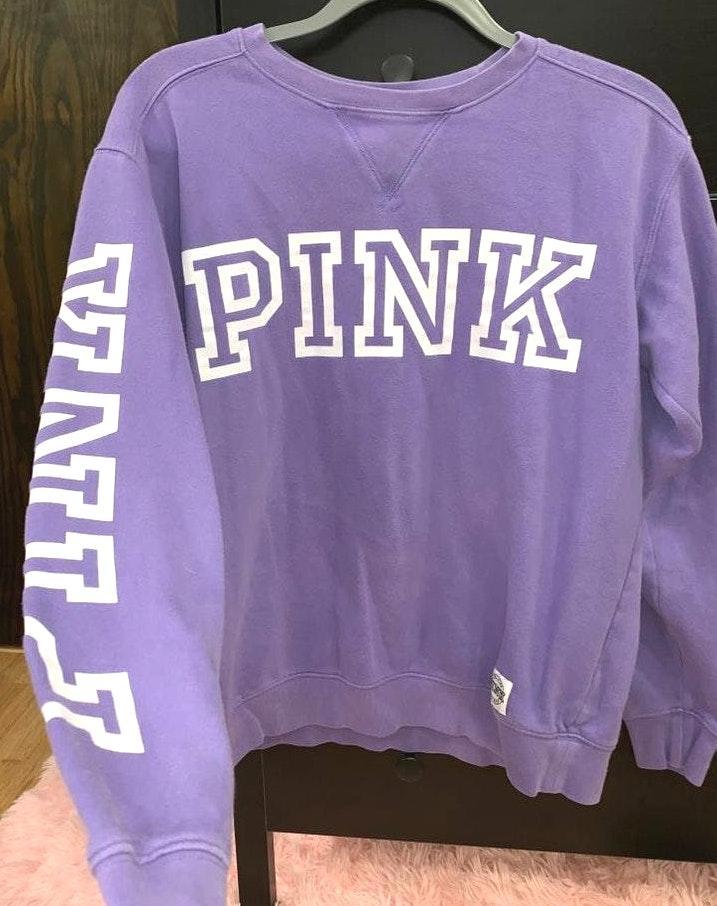 d18f01297469d PINK Victoria's Secret Purple Oversize Pullover