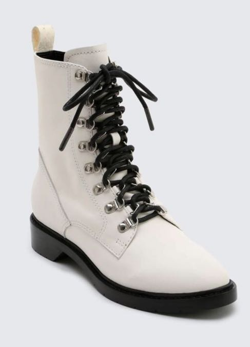 Dolce Vita Lace Up Leather Combat Boot