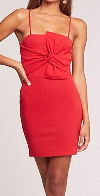 6a8244b280b1 Charlotte Russe Red Mini Bodycon Dress | Curtsy
