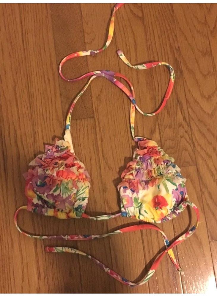 ABS Allen Schwartz Ruffle Bikini Top
