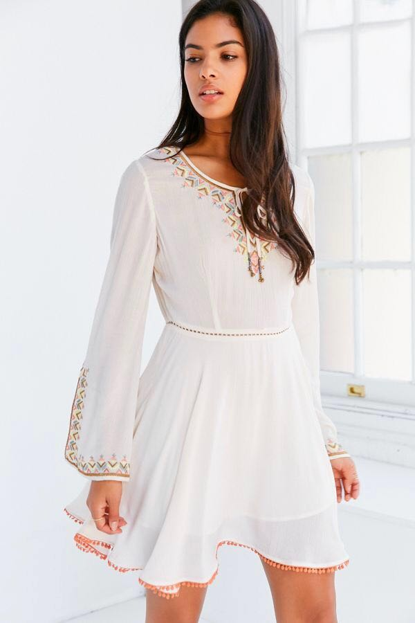 Urban Outfitters Ecote Bell Sleeve Dress