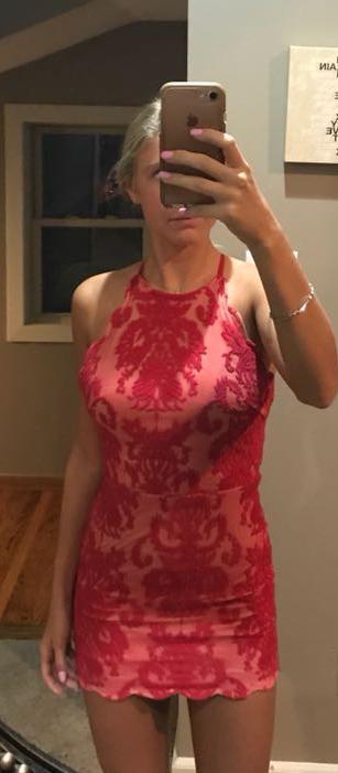 Xenia Mini Tight Red Dress