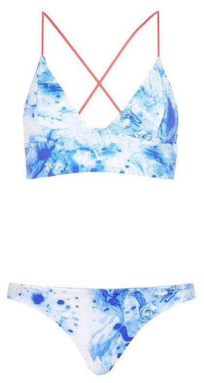 Topshop marble bikini
