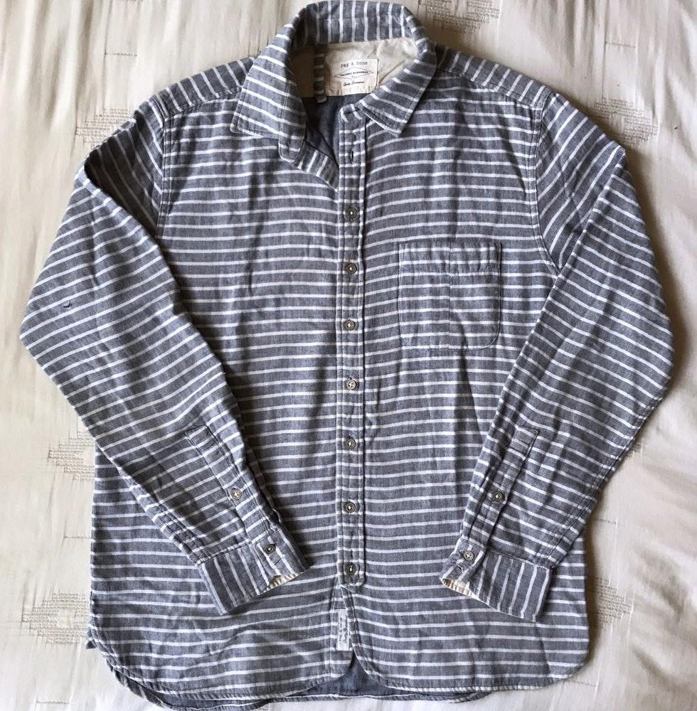 Rag & Bone [Men's]Tailored Workwear Striped Shirt
