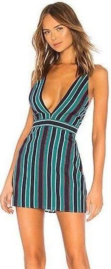 Lovers + Friends Striped Mini Dress