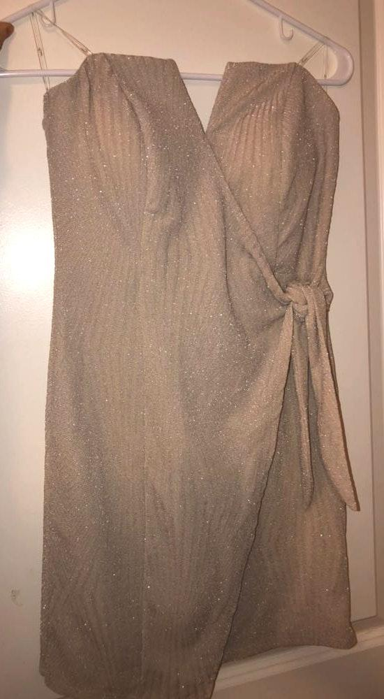 Trixxi Beige Bodycon Sleeveless Dress