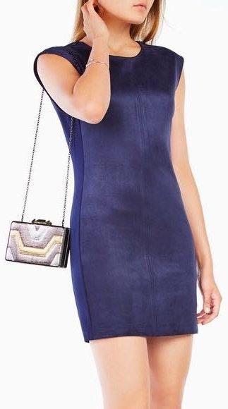 BCBGMAXAZRIA Karlee Faux Suede Dress