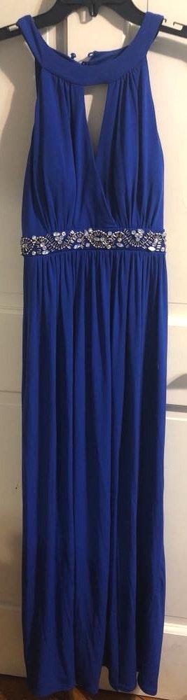 I.N. San Francisco Long Blue Dress