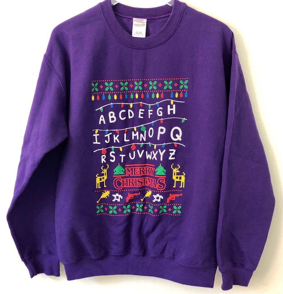 Stranger Things Christmas Sweater.Gildan Stranger Things Christmas Sweater