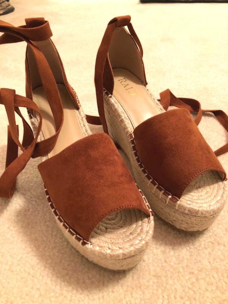 ASOS Brown Suede Platform Sandal