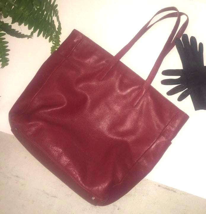 EXPRESS Empowering Red Leather Tote