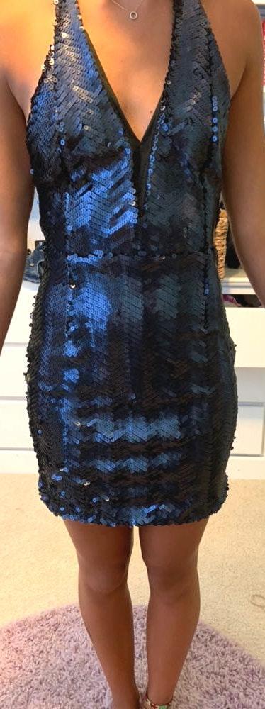 WYLDR blue sequin dress
