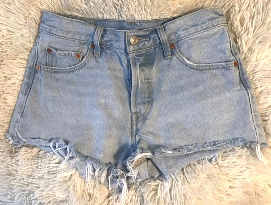Levi's light-wash denim shorts