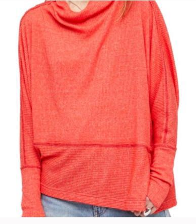 Free People Red Slouchy Top