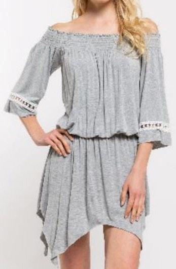 POL Dark Grey Flowy Dress