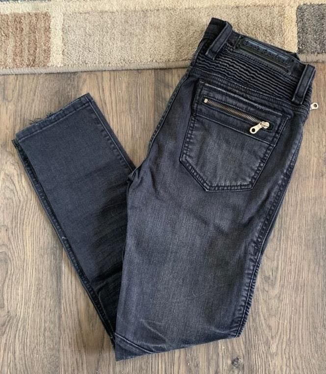 Rock Revival Moto Nelrose Black Skinny Jeans