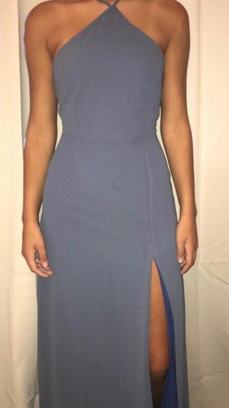 Tobi Blue maxi dress with open back