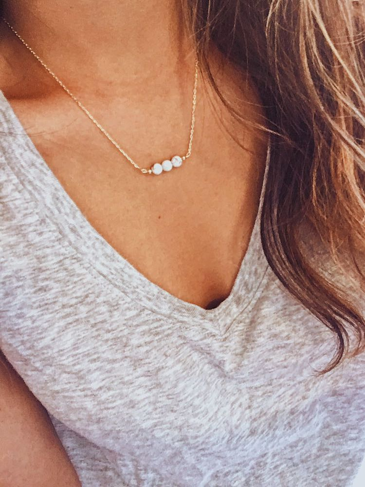 Dainty Marble Necklace