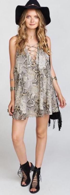 Show Me Your Mumu Snake Dress