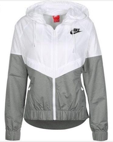 Nike Grey & White Windbreaker